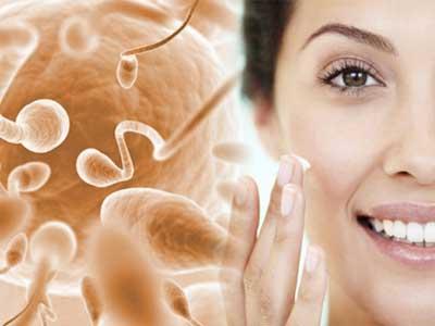 Сперма на лицо девушка полезна