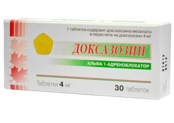 Доксазозин: инструкция по применению