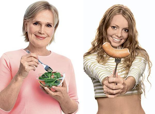 Диета для похудения в соответствии с возрастом