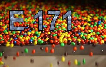 Пищевая добавка Е 171 в популярных конфетах