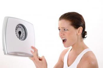 Женщина набрала лишний вес