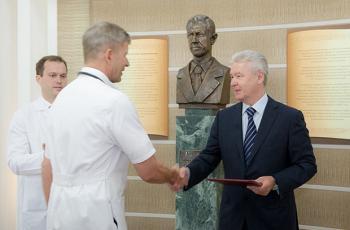 Сергей Собянин посетил Городскую клиническую больницу имени А.К. Ерамишанцева (ранее — ГКБ №20)