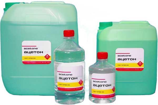 Так выглядят упаковки с ацетоном - избегайте отравления!