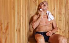 Фото: Мужчина в сауне