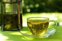 Красивая картинка: зеленый чай и солнце