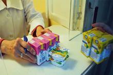 Раздача детского питания на молочной кухне, Агуша