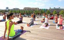 Бесплатная йога в парке Музеон
