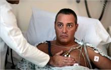 Мужчина на больничной койке, у него сердечная недостаточность