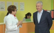 Мэр Москвы Сергей Собянин посетил детскую поликлинику №125