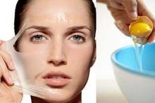 Улучшение кожи с помощью маски из яичного белка