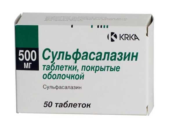 Сульфасалазин: инструкция по применению
