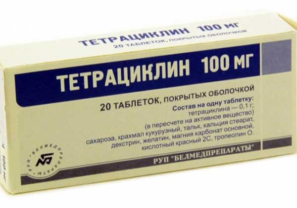 Тетрациклин: инструкция по применению